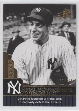 2009 SPx - Joe DiMaggio Career Highlights #JD-77 - Joe DiMaggio /425