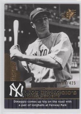 2009 SPx - Joe DiMaggio Career Highlights #JD-84 - Joe DiMaggio /425