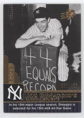 2009 SPx - Joe DiMaggio Career Highlights #JD-88 - Joe DiMaggio /425