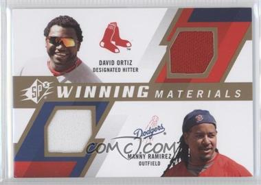 2009 SPx - Winning Materials 2 #WM2-RO - Manny Ramirez, David Ortiz