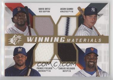 2009 SPx - Winning Materials 4 #WM4-OGDF - David Ortiz, Jason Giambi, Carlos Delgado, Prince Fielder