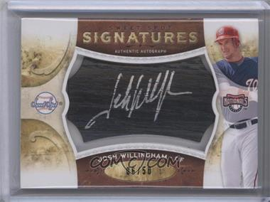 2009 Sweet Spot - Signatures - Black Bat Silver Ink #S-JW - Josh Willingham /50