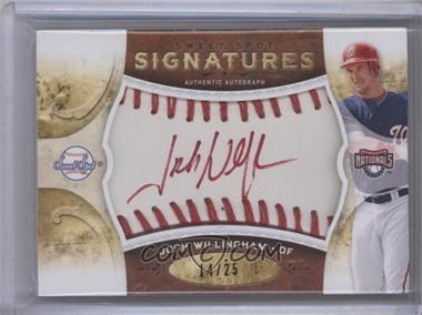 2009 Sweet Spot - Signatures - White Ball Red Stitch Red Ink #S-JW - Josh Willingham /25