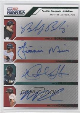 2009 TRISTAR Prospects Plus - [Base] - Green Autographs [Autographed] #90 - Rob Bowen, Jim Miller, Matt Daley, Nick Franklin, Jiovanni Mier, Robert Borchering /25