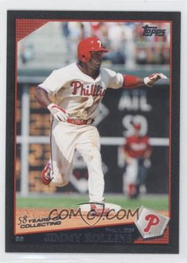 2009 Topps - [Base] - Black #525 - Jimmy Rollins /58
