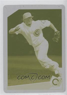 2009 Topps - [Base] - Printing Plate Yellow #449 - Mike Fontenot /1