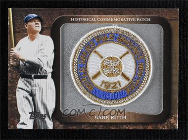 2009 Topps - Legends of the Game Manufactured Commemorative Patch #LPR-1 - Babe Ruth