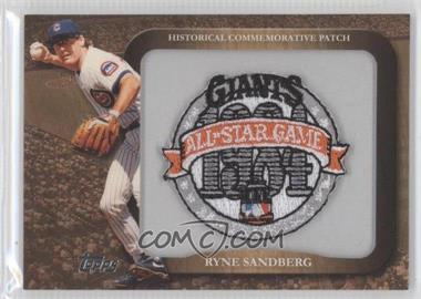 2009 Topps - Legends of the Game Manufactured Commemorative Patch #LPR-86 - Ryne Sandberg