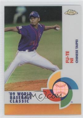 2009 Topps Chrome - World Baseball Classic - Gold Refractor #W85 - Fu-Te Ni /50