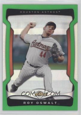 2009 Topps Finest - [Base] - Green Refractor #118 - Roy Oswalt /99