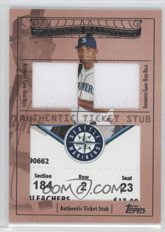 2009 topps ticket to stardom ticket stubs plus memorabilia dual tsp2 45 wladimir balentien. Black Bedroom Furniture Sets. Home Design Ideas