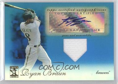 2009 Topps Tribute - Autographed Relics - Blue #TAR-RB4 - Ryan Braun /75