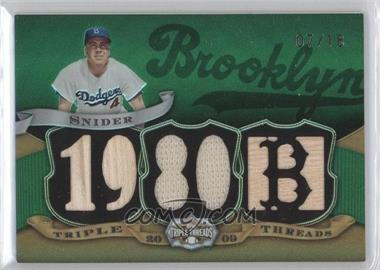 2009 Topps Triple Threads - [???] #TTR-76 - Duke Snider /18