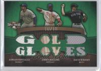 Adrian Gonzalez, Jimmy Rollins, David Wright #/18