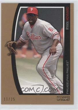 2009 Topps Unique - [Base] - Reserve #50 - Ryan Howard /25