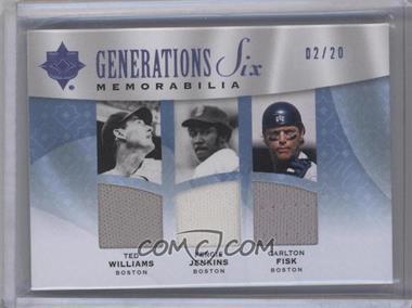 2009 Ultimate Collection - [???] #G6M-2 - Generations Memorabilia Six - Ted Williams, Fergie Jenkins, Carlton Fisk, Tony Perez, Jason Varitek, David Ortiz /20
