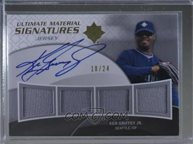 2009 Ultimate Collection - Ultimate Material Signatures Quad #UMSQ-KG - Ken Griffey Jr. /24