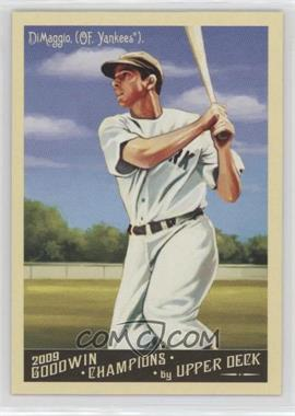 2009 Upper Deck - Goodwin Champions Preview #GCP-1 - Joe DiMaggio