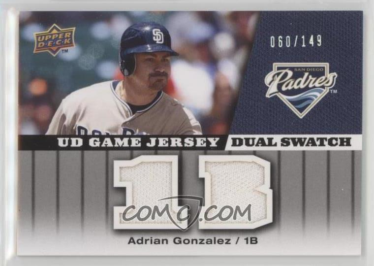purchase cheap 50d23 7662c 2009 Upper Deck - UD Game - Jersey Dual Swatch #GJ-AG ...