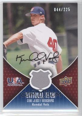 2009 Upper Deck - USA National Team - Game Jersey Autographs [Autographed] #USA-KV - Kendal Volz /225