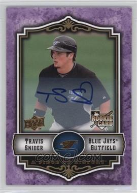 2009 Upper Deck A Piece of History - [Base] - Violet Autograph #134 - Travis Snider