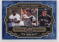 Jose Reyes, David Wright, Carlos Beltran /999