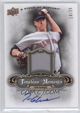2009 Upper Deck A Piece of History - Timeless Moments - Jersey Autograph #TM-TG - Tom Glavine /25