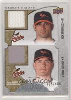 Teammate Timelines Dual Swatch - Nick Markakis, Jeremy Guthrie [Noted] #/400