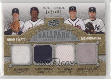 2009 Upper Deck Ballpark Collection - [Base] #224 - Emerging Stars Quad Swatch Memorabilia - Ross Ohlendorf, Fausto Carmona, Kelly Johnson, Jonathan Albaladejo /400