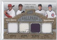 Emerging Stars Quad Swatch Memorabilia - Erik Bedard, Matt Holliday, Rich Hill,…