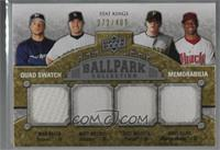 Stat Kings Quad Swatch Memorabilia - Ryan Braun, Matt Holliday, Nate McLouth, C…