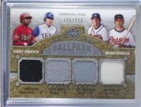 Emerging Stars Eight Swatch Memorabilia - Nick Markakis, Nyjer Morgan, Adam Jon…