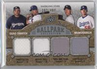 Prince Fielder, Michael Young, Chad Billingsley, Chien-Ming Wang /400
