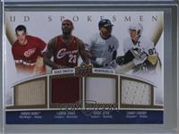 Gordie Howe, LeBron James, Derek Jeter, Sidney Crosby #12/25
