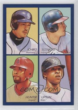 2009 Upper Deck Goudey - 4-in-1 - Blue #35-63 - Ichiro Suzuki, Grady Sizemore, Torii Hunter, B.J. Upton