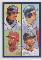 Ichiro Suzuki, Grady Sizemore, Torii Hunter, B.J. Upton