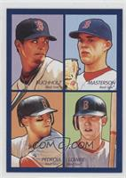 Clay Buchholz, Justin Masterson, Dustin Pedroia, Jed Lowrie