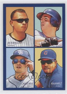 2009 Upper Deck Goudey - 4-in-1 - Blue #35-85 - David Wright, Aramis Ramirez, Evan Longoria, Alex Rodriguez