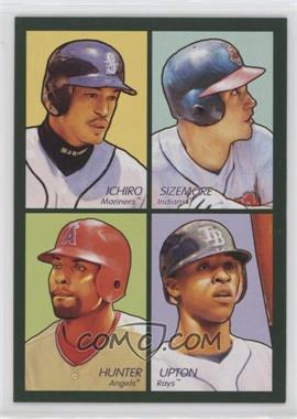 2009 Upper Deck Goudey - 4-in-1 - Green #35-63 - Ichiro Suzuki, Grady Sizemore, Torii Hunter, B.J. Upton