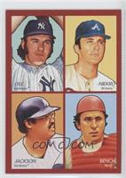 Sparky Lyle, Phil Niekro, Reggie Jackson, Johnny Bench