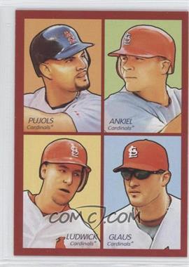 2009 Upper Deck Goudey - 4-in-1 - Red #35-30 - Albert Pujols, Rick Ankiel, Troy Glaus, Ryan Ludwick