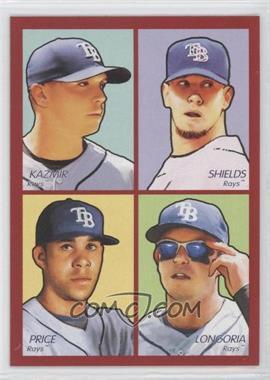 2009 Upper Deck Goudey - 4-in-1 - Red #35-45 - Scott Kazmir, James Shields, Evan Longoria, David Price
