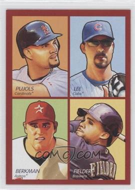 2009 Upper Deck Goudey - 4-in-1 - Red #35-46 - Albert Pujols, Derrek Lee, Lance Berkman, Prince Fielder