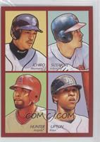 Grady Sizemore, B.J. Upton, Ichiro Suzuki, Torii Hunter