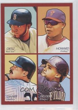 2009 Upper Deck Goudey - 4-in-1 - Red #35-67 - David Ortiz, Ryan Howard, Jason Giambi, Prince Fielder