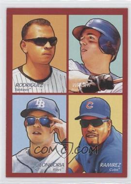 2009 Upper Deck Goudey - 4-in-1 - Red #35-85 - David Wright, Aramis Ramirez, Evan Longoria, Alex Rodriguez