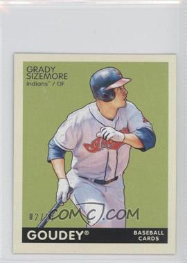 2009 Upper Deck Goudey - [Base] - Mini Black Back #61 - Grady Sizemore /21