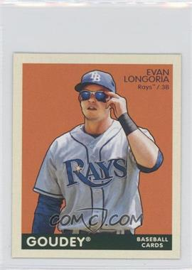 2009 Upper Deck Goudey - [Base] - Mini Green Back #184 - Evan Longoria
