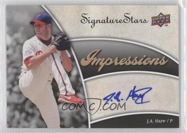 2009 Upper Deck Signature Stars - Impressions Autographs #IMP-JH - J.A. Happ