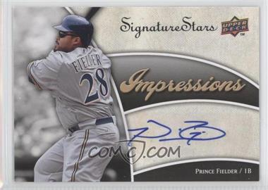 2009 Upper Deck Signature Stars - Impressions Autographs #IMP-PF - Prince Fielder